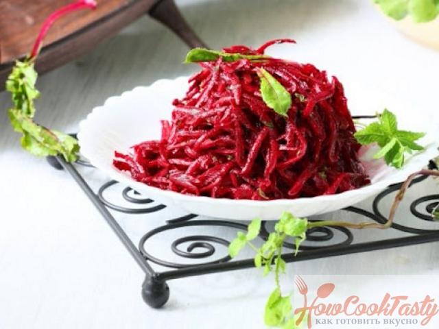 Острый свекольный салат