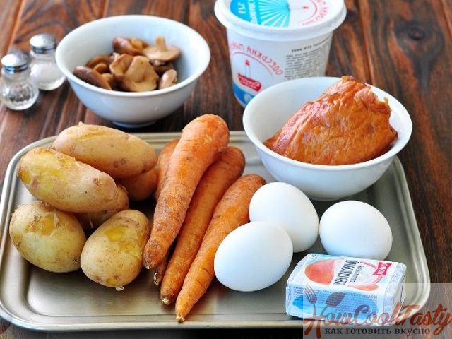 Варим овощи и яйца