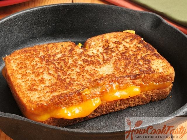 Сырные тосты на сковороде
