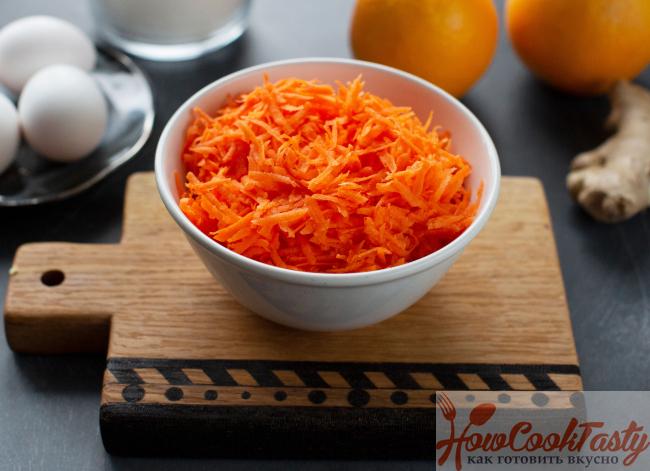 ингредиенты для морковного торта