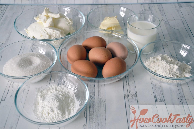 ингредиенты для хлопкового чизкейка